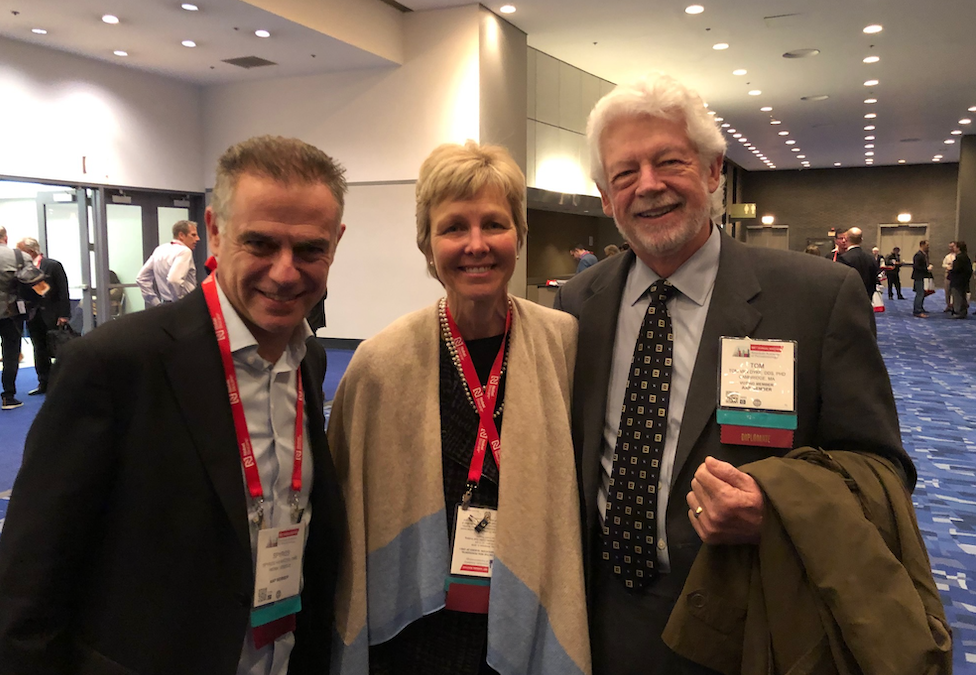 Dr Spyros Karatzas, Dr Mary Ann Lester and Dr Tom Van Dyke at the American Academy of Periodontology annual Meeting 11/2019